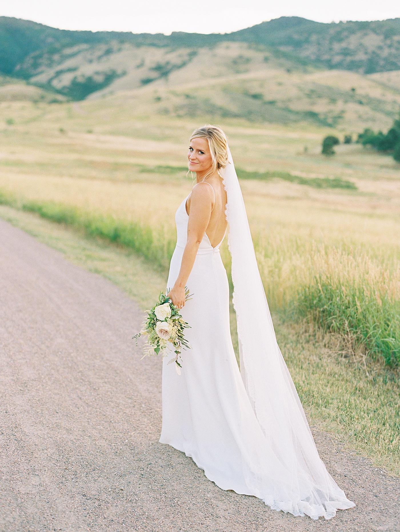 bride at manor house colorado