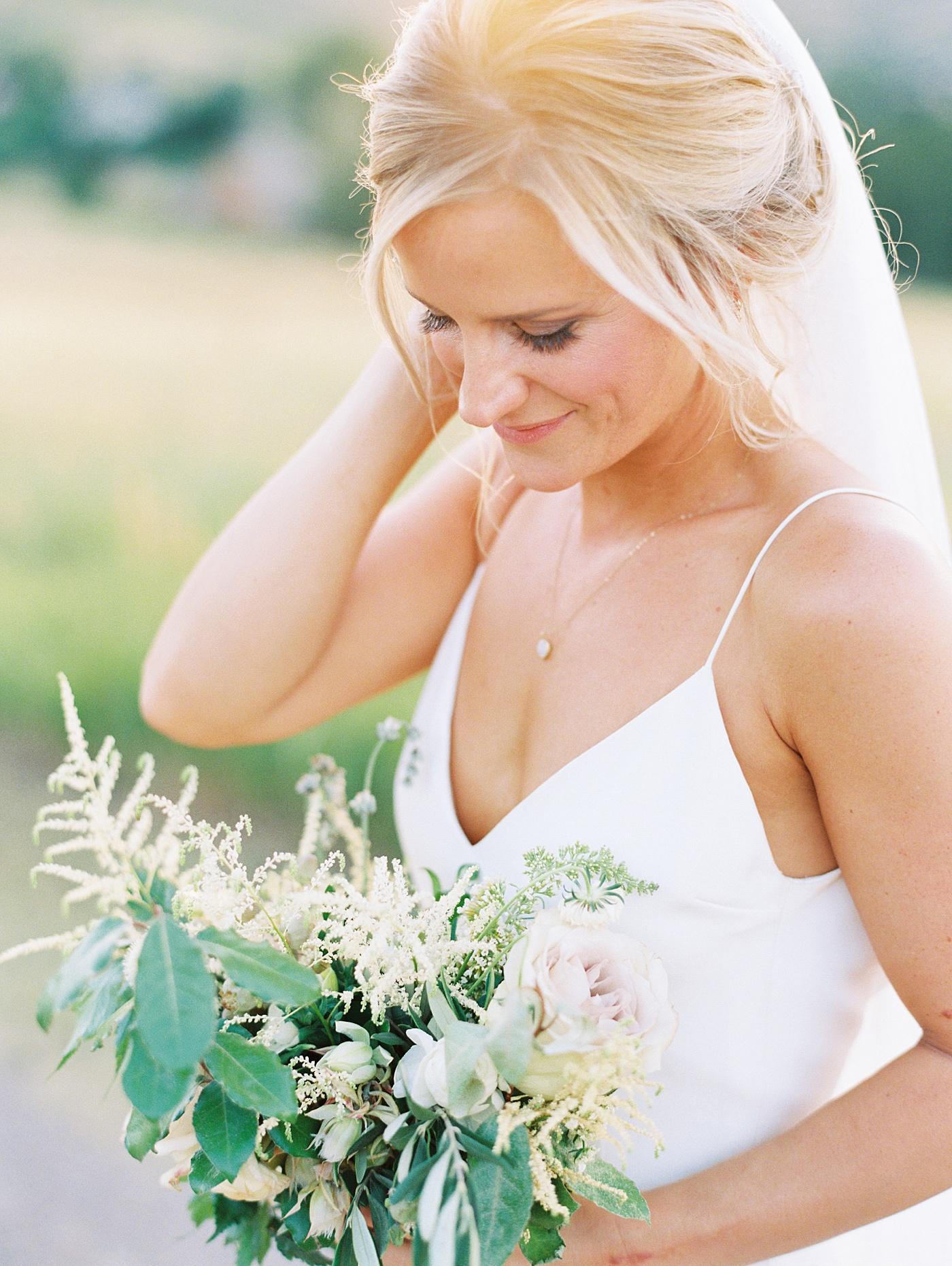beautiful bride in colorado