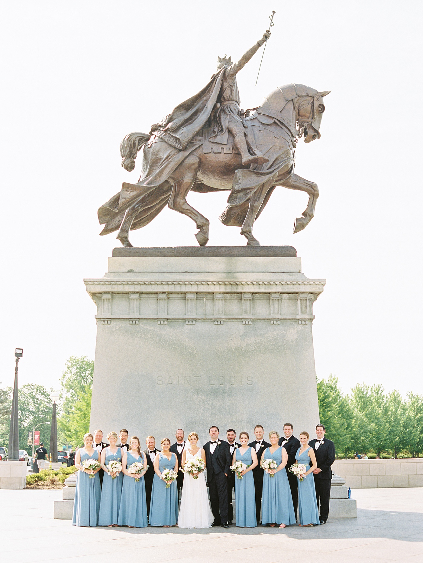 wedding party photos at forest park