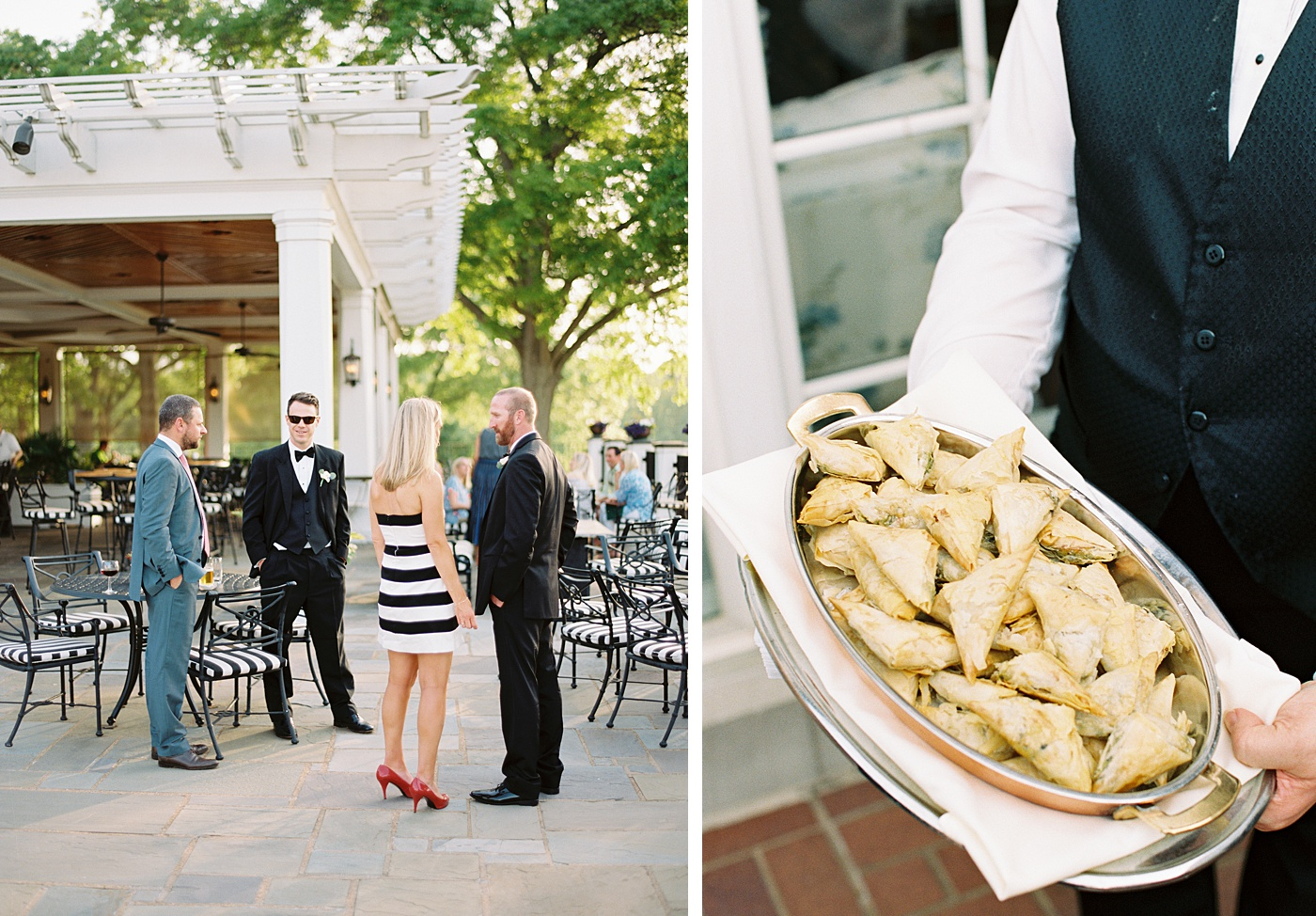 patio wedding at bellerive