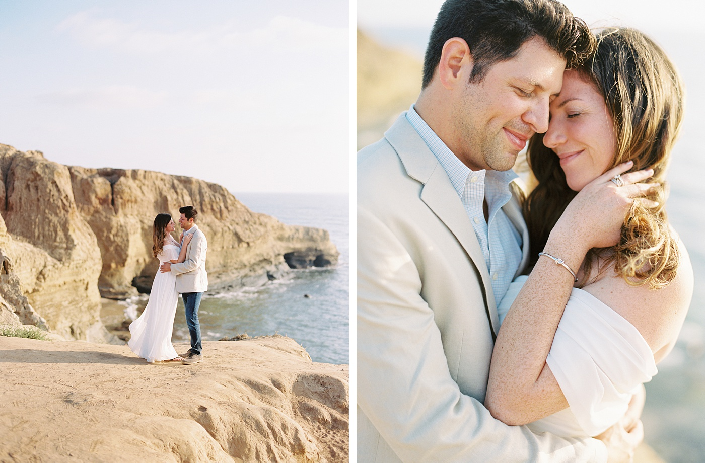 romantic portraits at sunset bluffs
