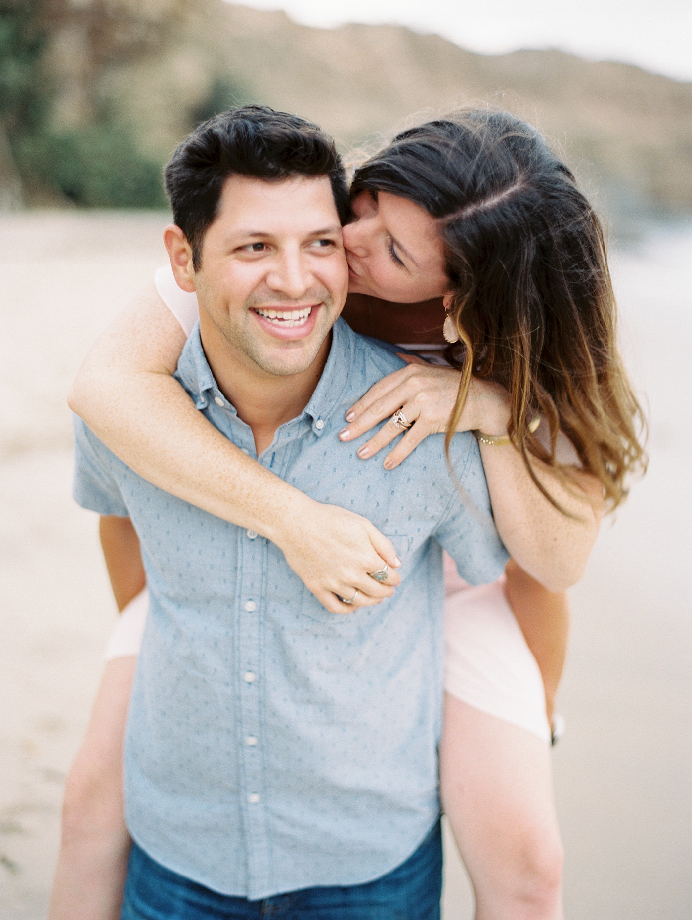 fun romantic engagement session