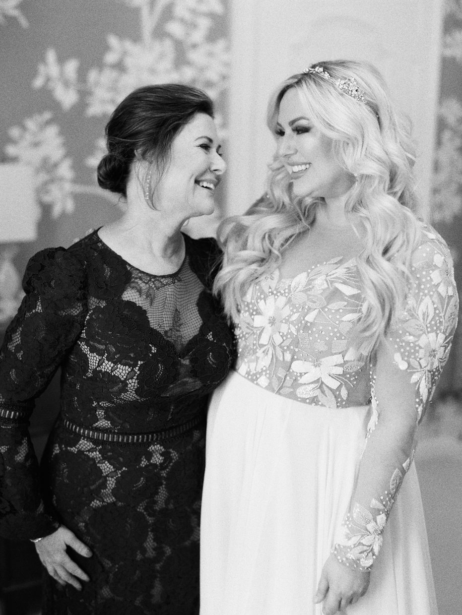 bride with her mother