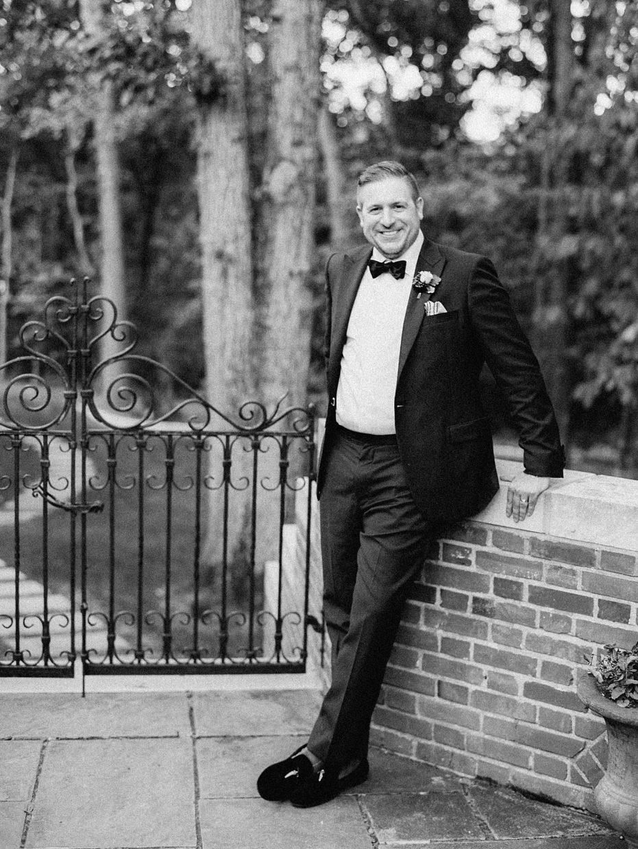 handsom groom portrait