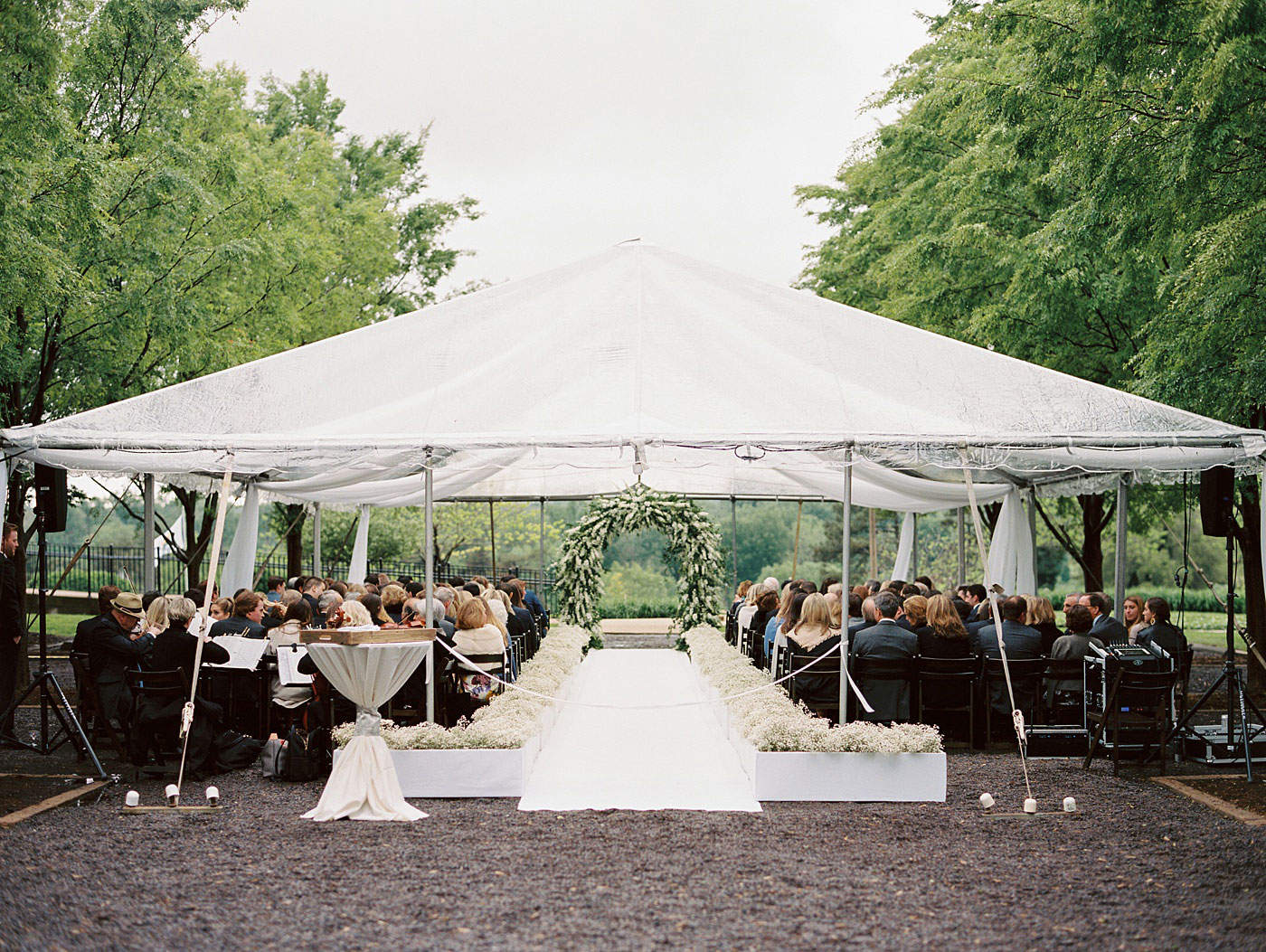 clear tent wedding ceremony