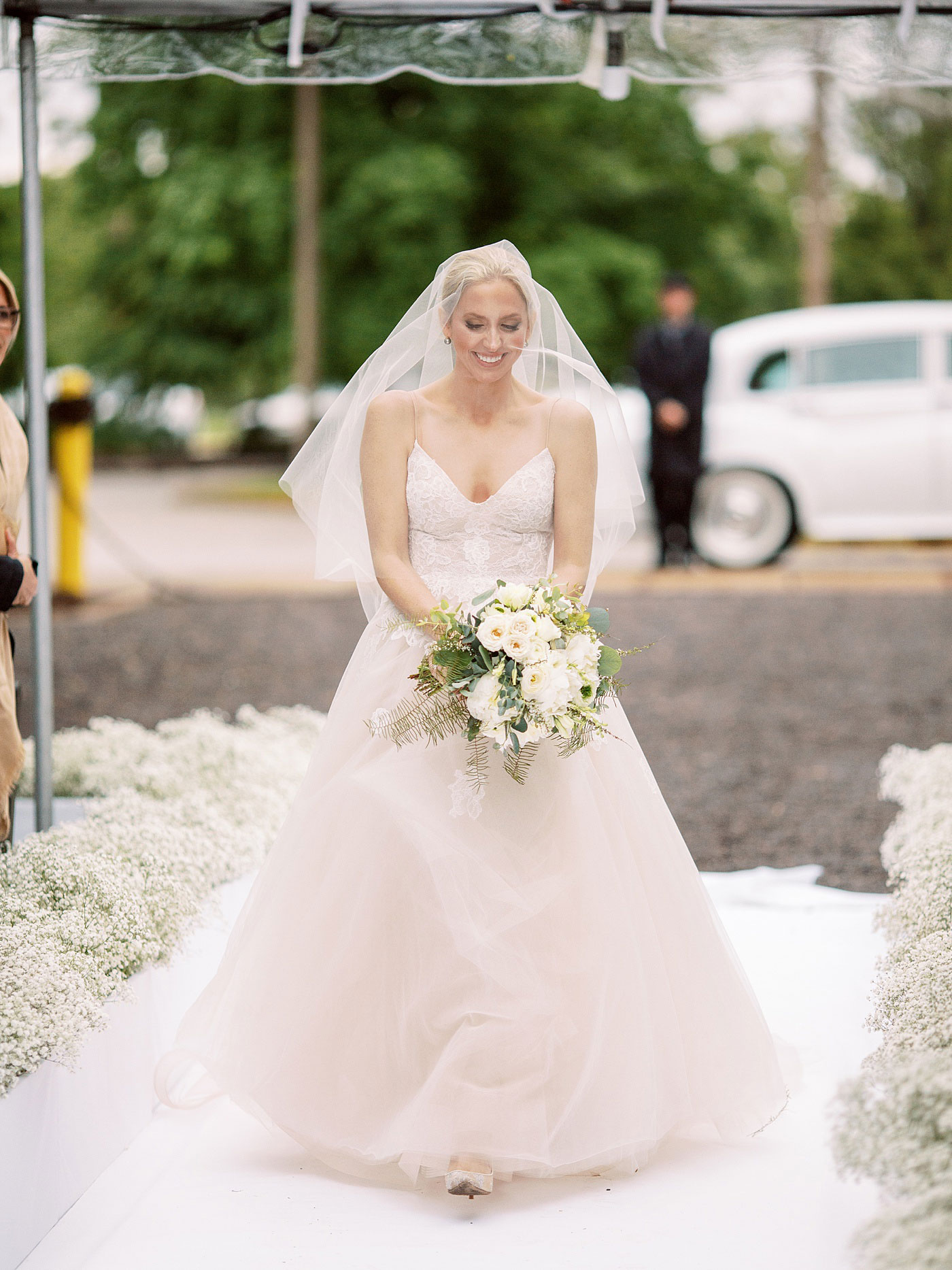 bride coming down the aisle