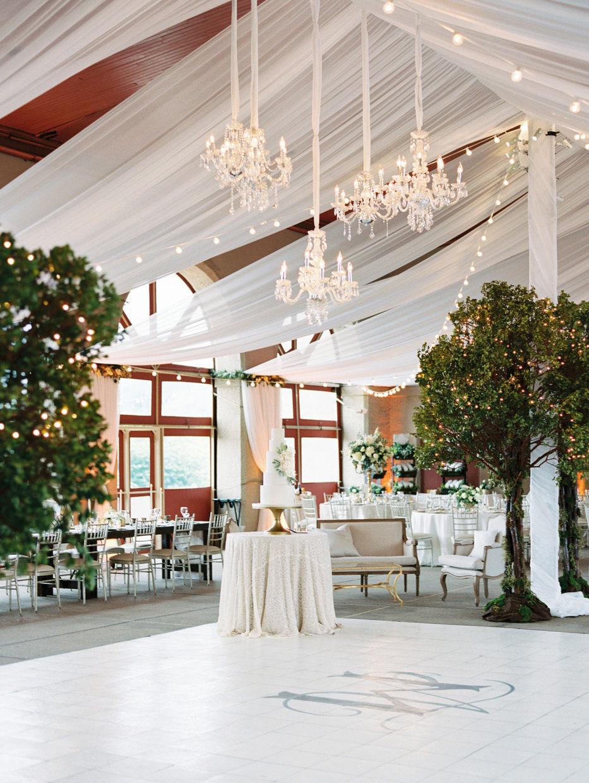 wedding reception at world's fair pavilion