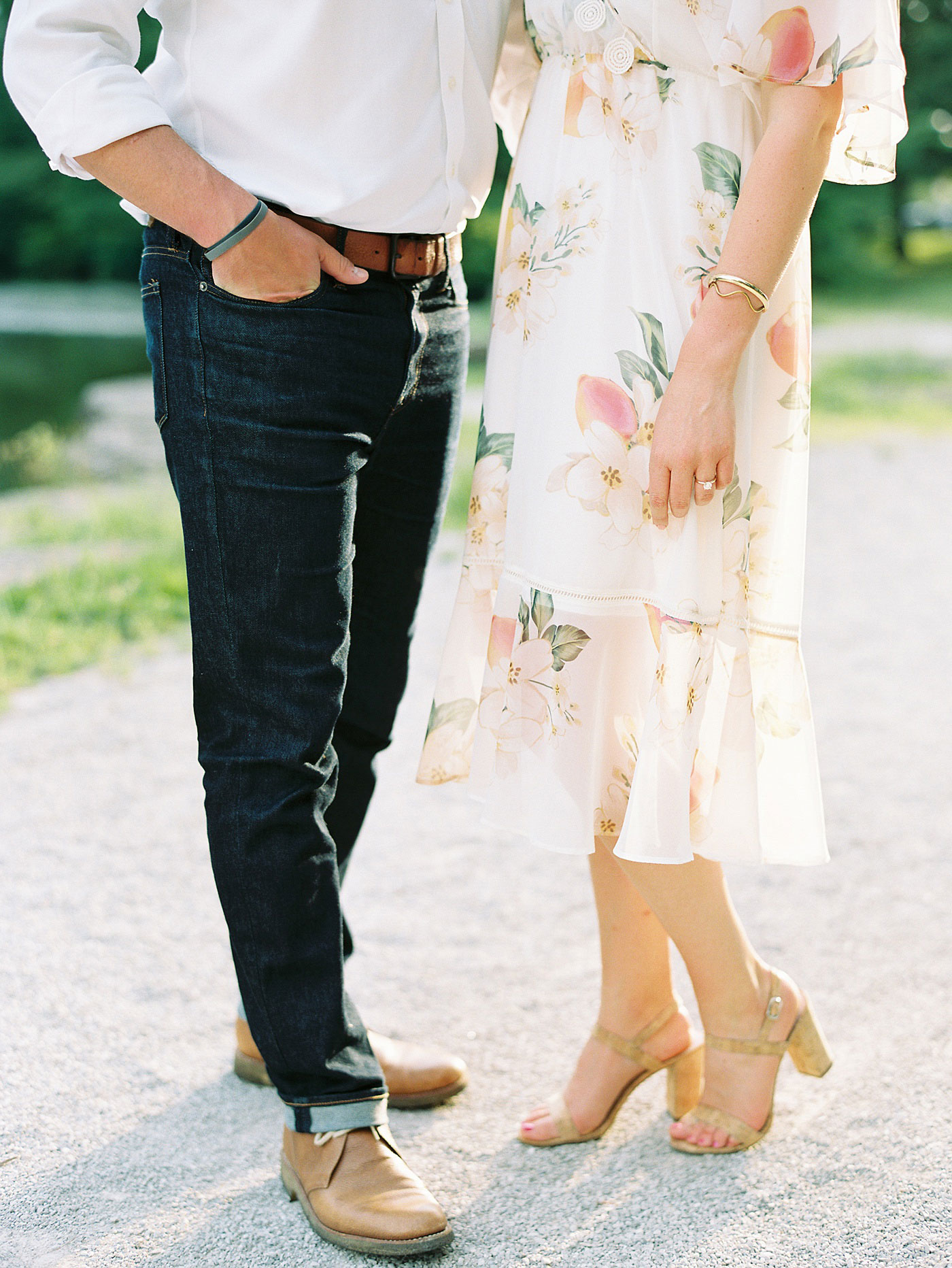 engagement session in forest park