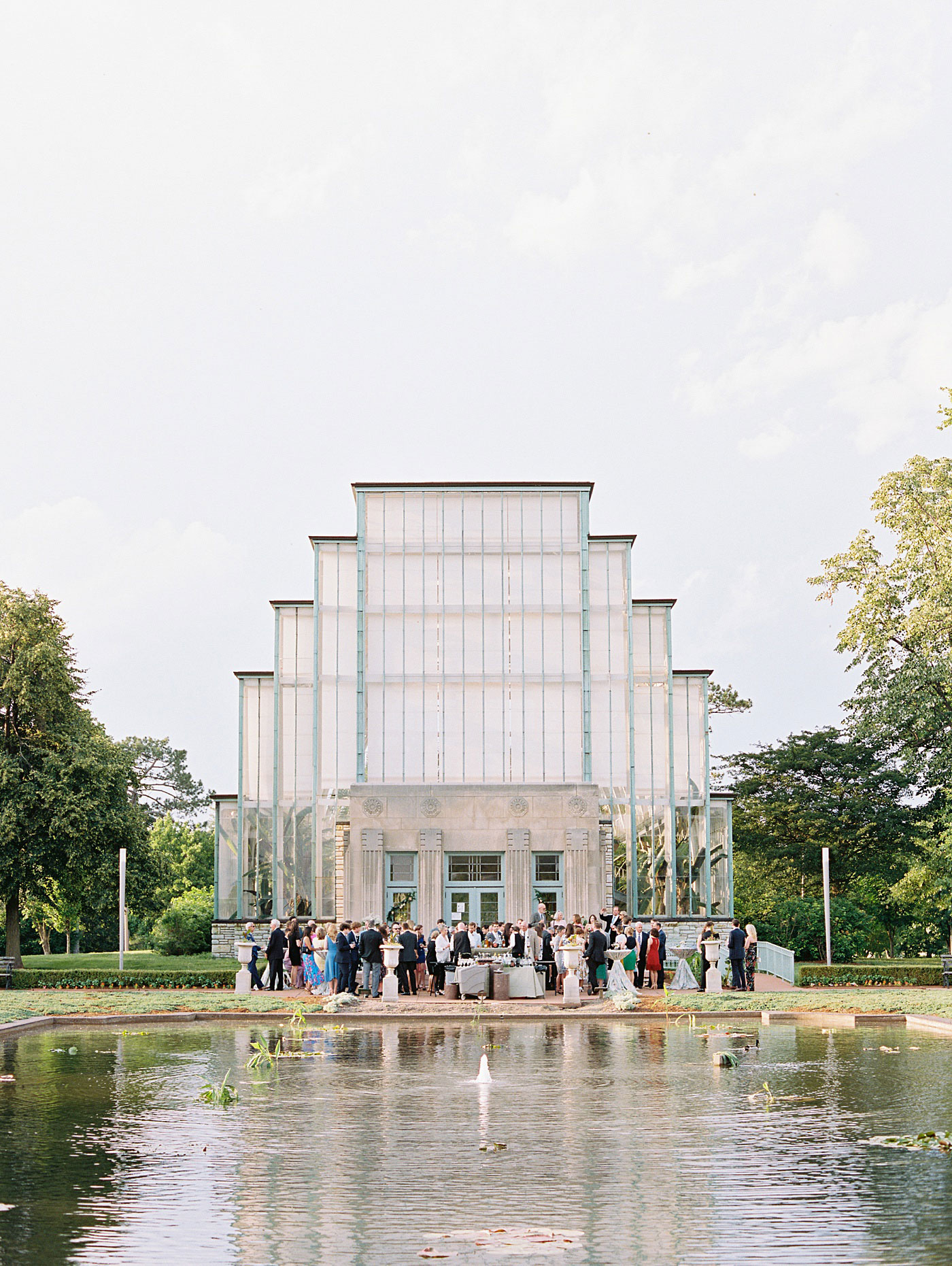 the jewel box in forest park wedding