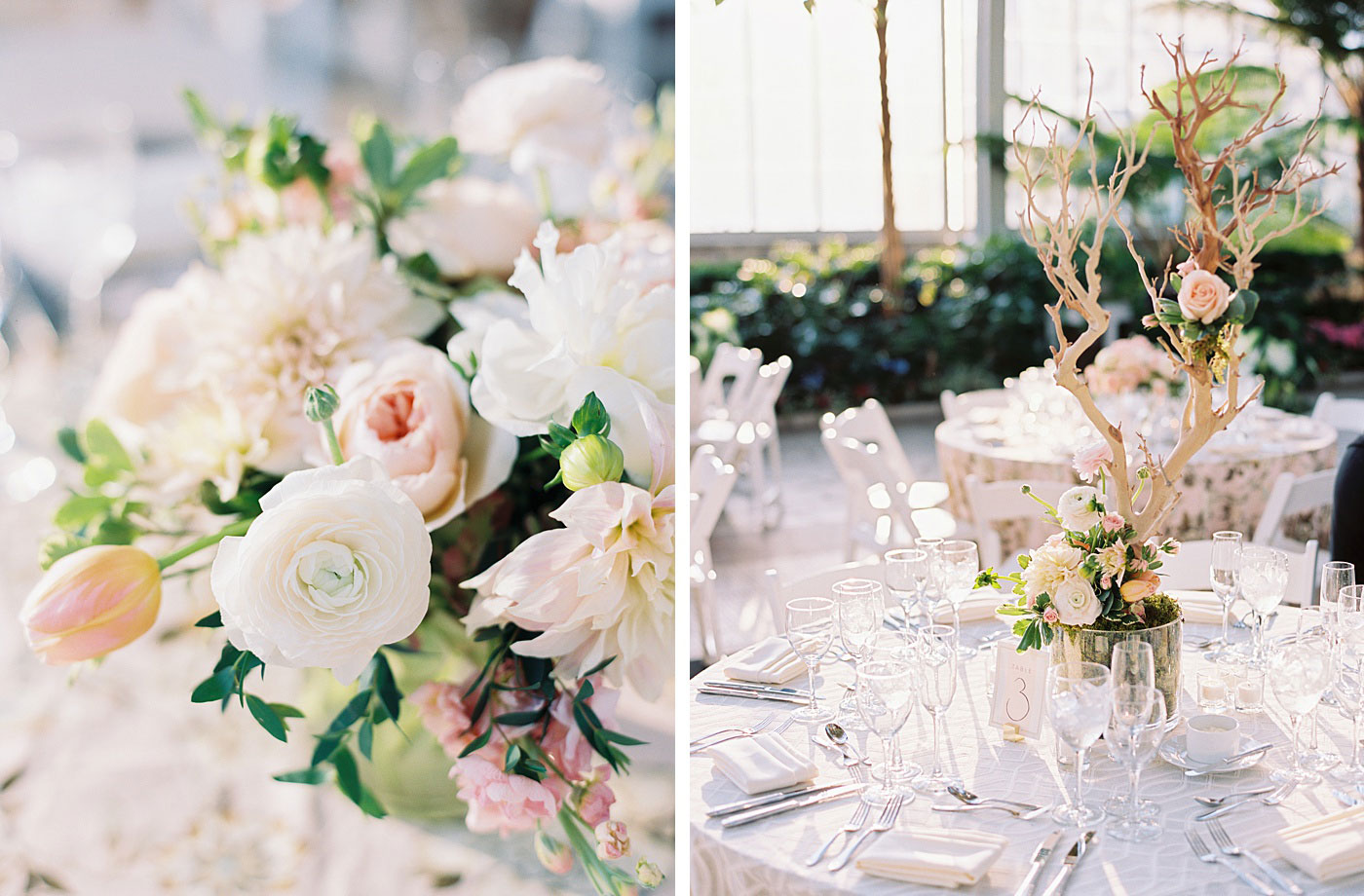jewel box wedding reception details