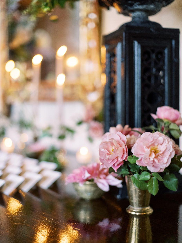 floral details at wedding