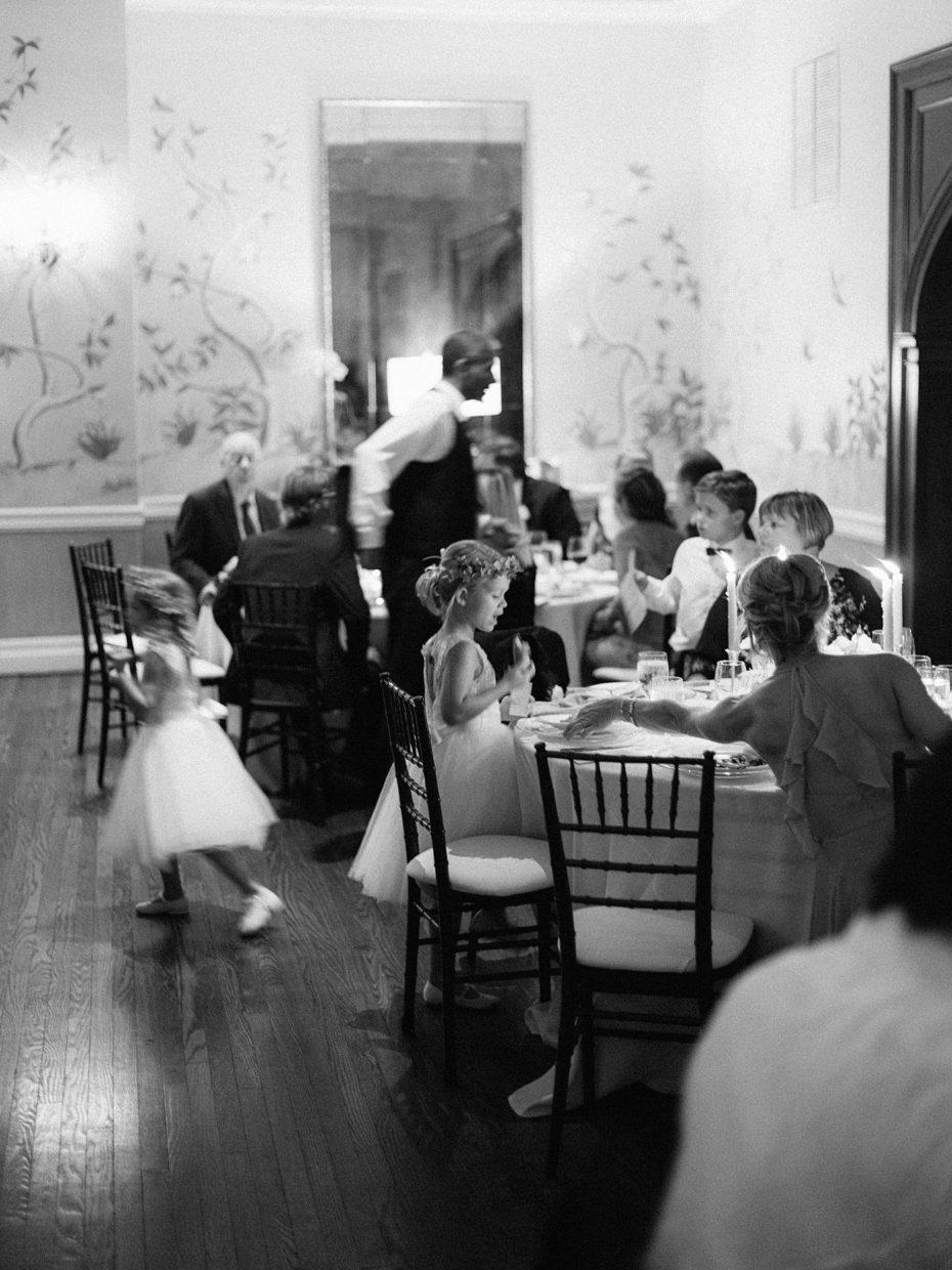 dinner party at wedding