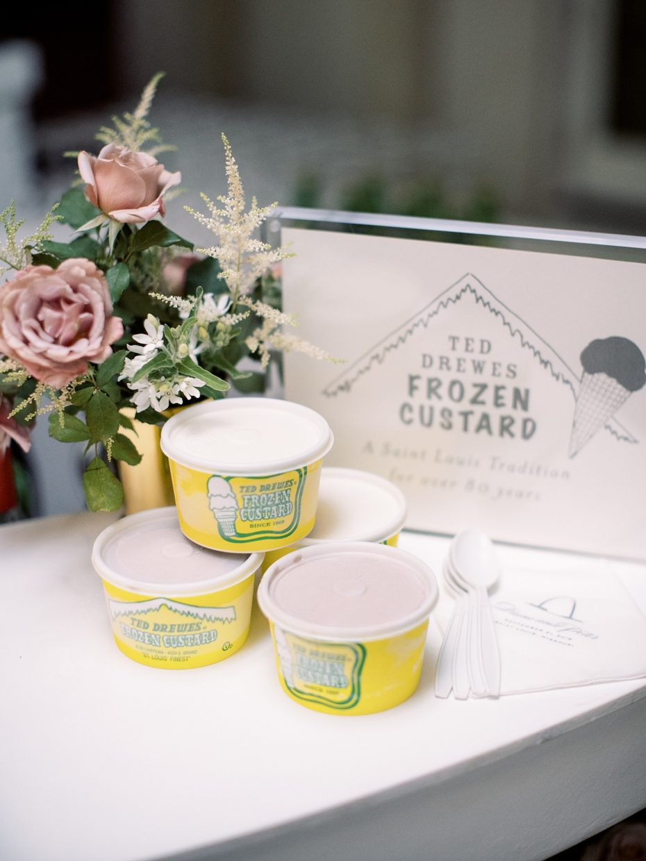 ted drewes ice cream at wedding