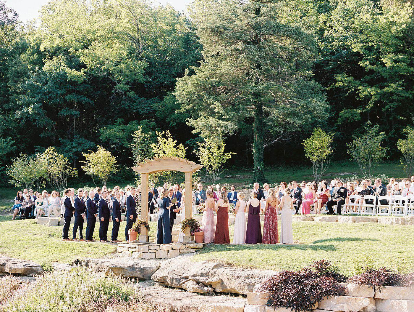 al fresco wedding at sunflower hill farm