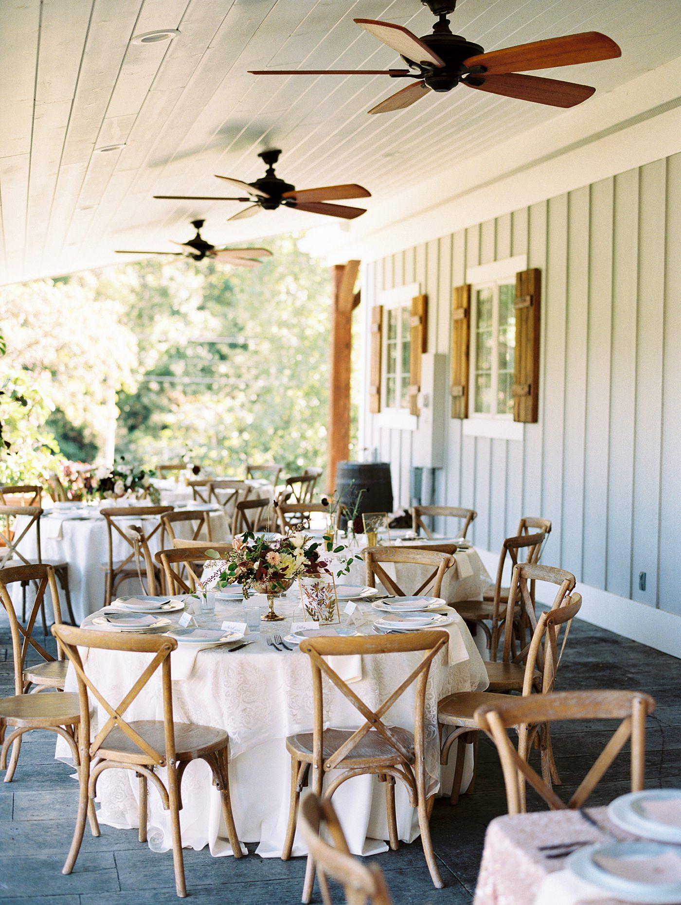 wedding reception at sunflower hill farm