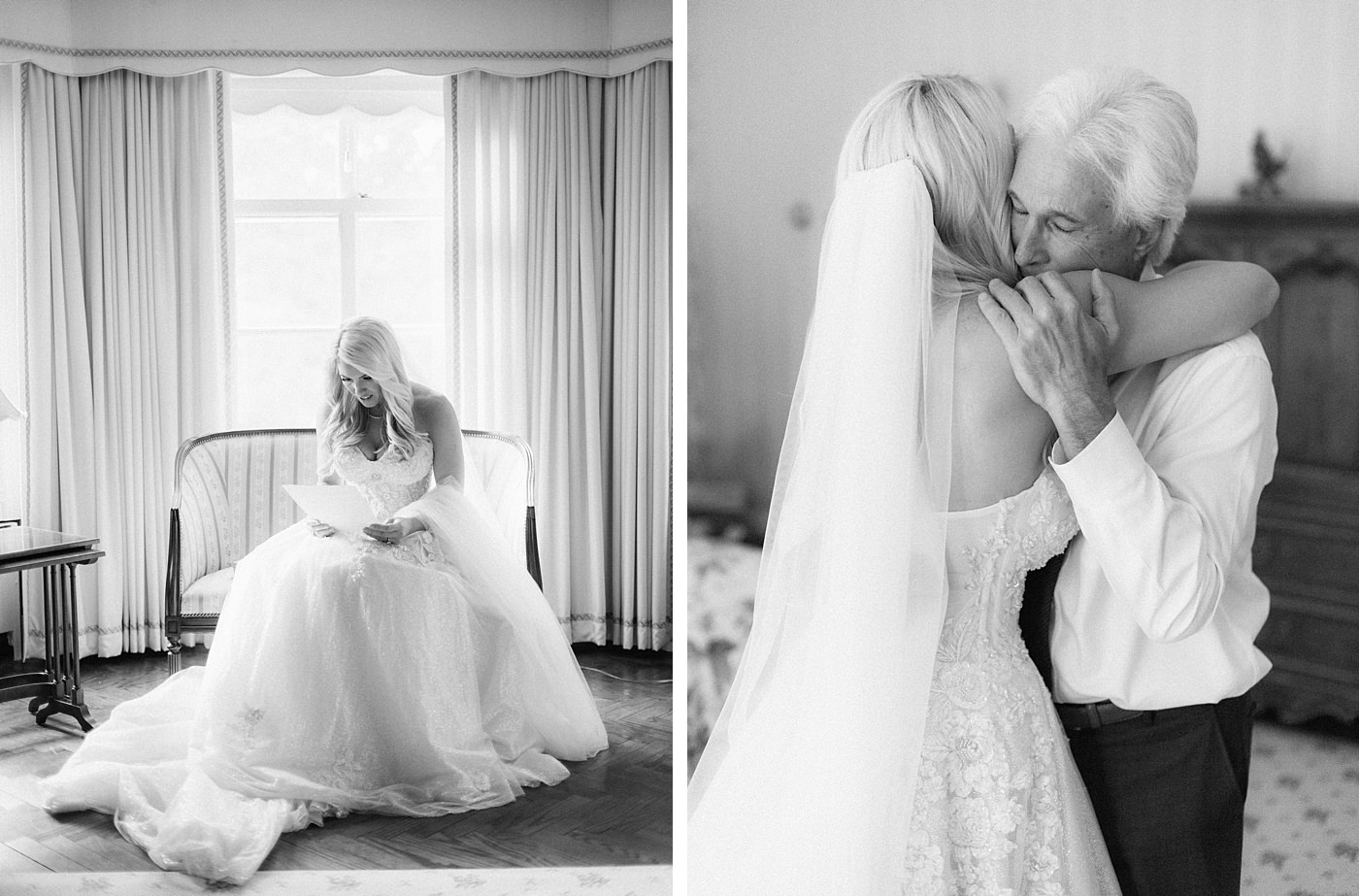 sentimental bride moment