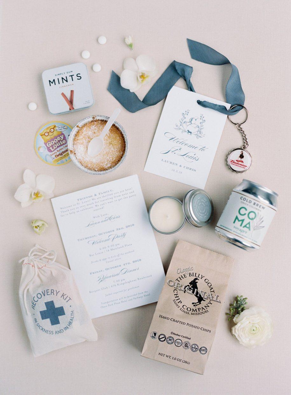 busch mansion wedding welcome bag