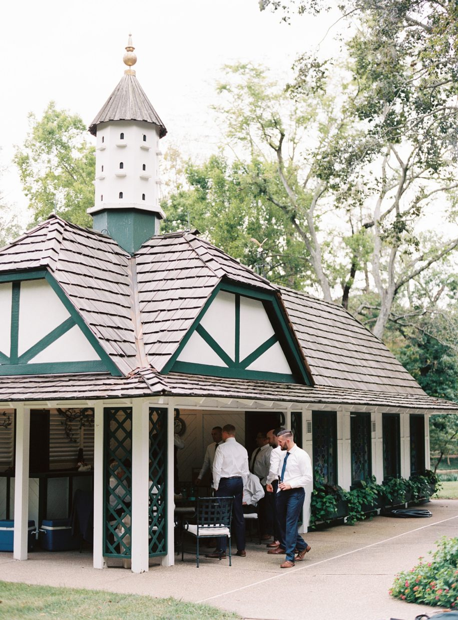 pool house at the busch mansion
