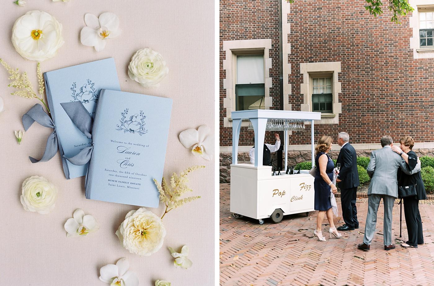 busch mansion wedding welcome