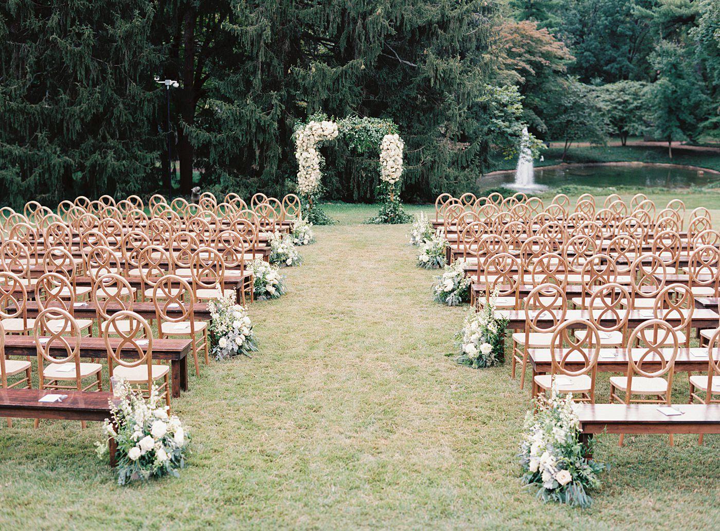 wedding ceremony at busch mansion