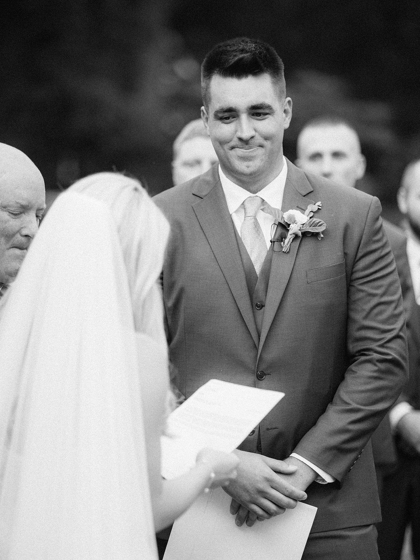 sentimental groom
