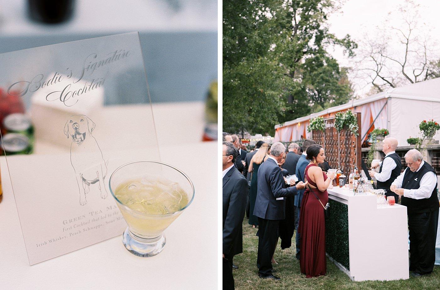 cocktail hour at busch mansion