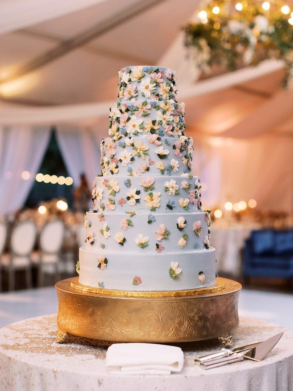 flower wedding cake