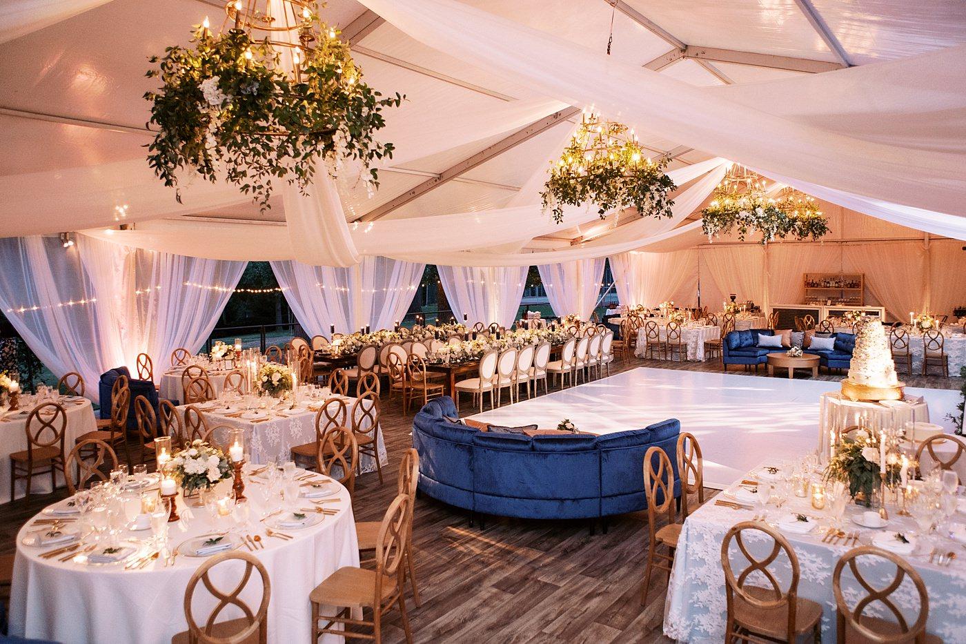 tent wedding at busch mansion