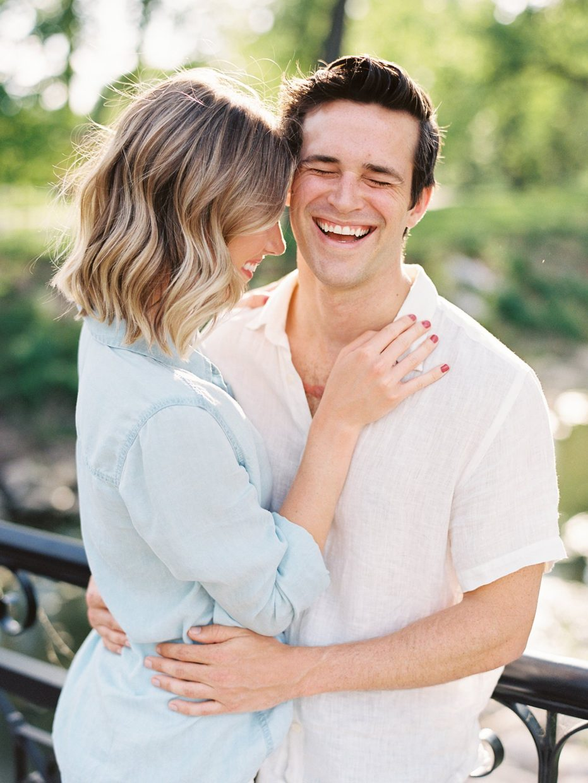 joyful engagement photos