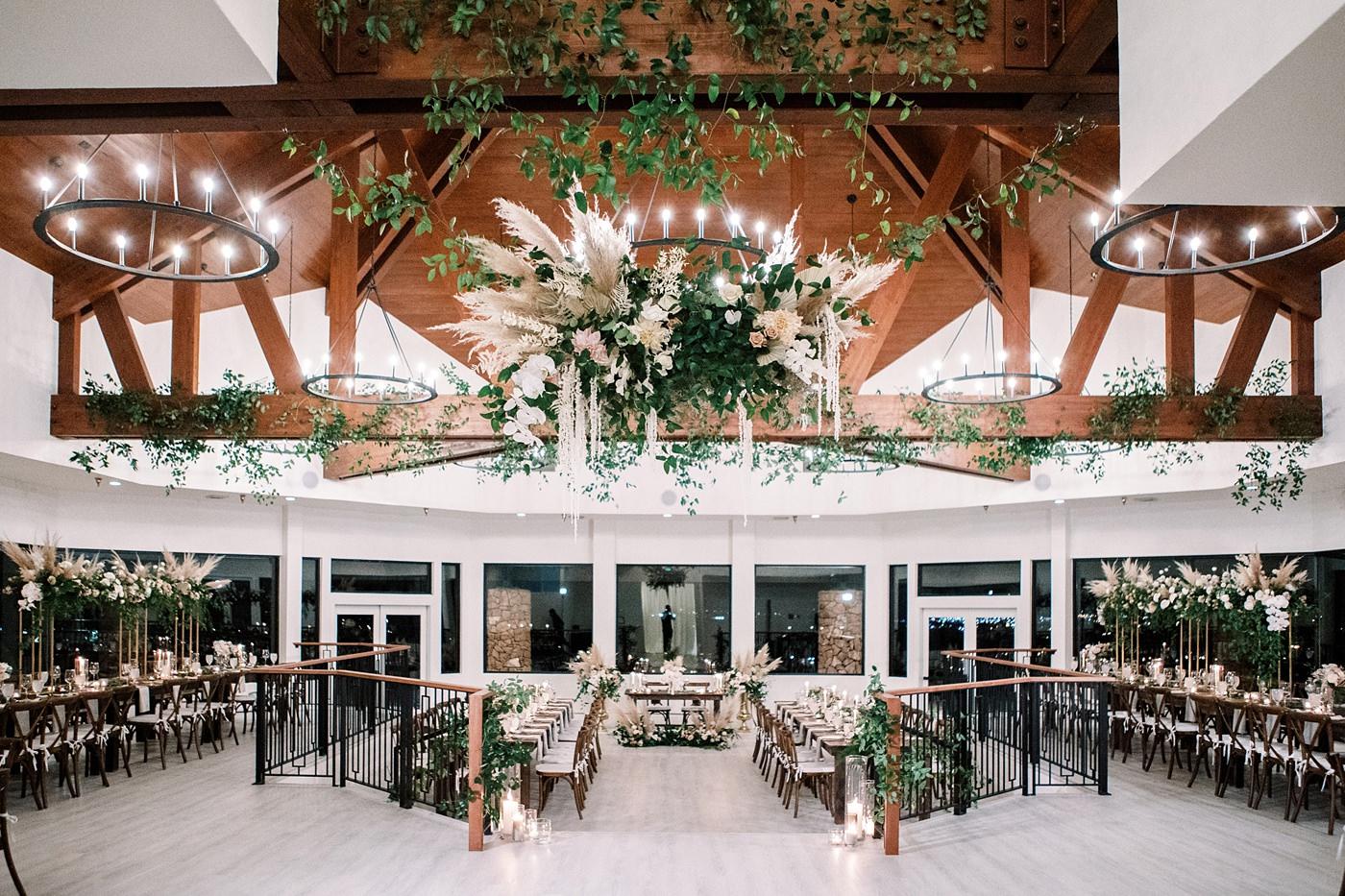 bello and blue wedding reception